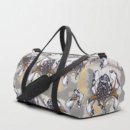 T.F TRAN MULTICOLOUR BUTTERFLY IRIS Duffle Bag