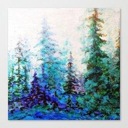 BLUE MOUNTAIN PINES LANDSCAPE Canvas Print