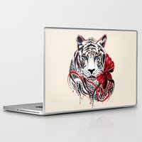 tiger Laptop & iPad Skins featuring White Tiger by Felicia Cirstea