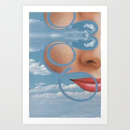 Faces in The Clouds Art Print