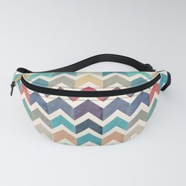 Watercolor Chevron Pattern Fanny Pack