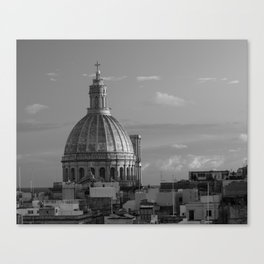 Dome of Our Lady of Mount Carmel in Valletta, Malta Canvas Print
