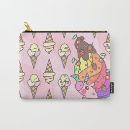 """Vector pattern series of """"Unicorns time"""". Art for kids. Carry-All Pouch"""