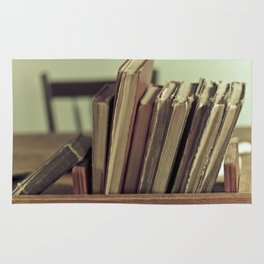 Retro Books Rug