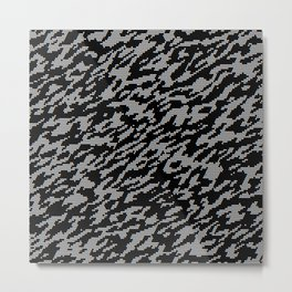 White and black camouflage background Metal Print