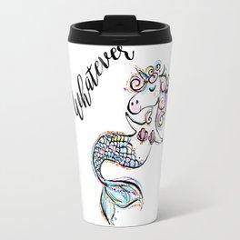 Unicorn mermaid, Funny Unicorn, Funny Mermaid, Cute Unicorn, Cute Mermaid Travel Mug