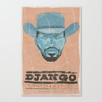 django Canvas Prints featuring Django by kjell