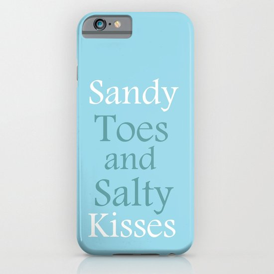 Sandy toes and salty kisses- the sea iPhone & iPod Case