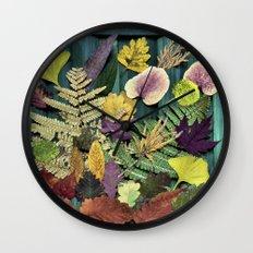 autumn abstract- fallen beauties Wall Clock