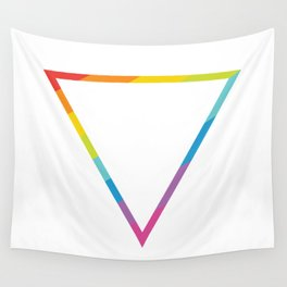 Pride: Rainbow Geometric Triangle Wall Tapestry