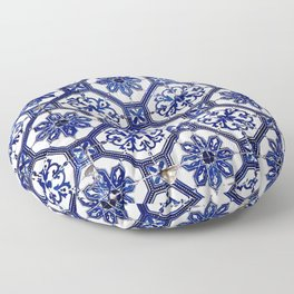 Blue and White Portuguese Tile - Floor Pillow