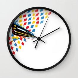 Th3 po!nts of intrust Wall Clock