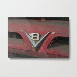 V8 Badge Metal Print