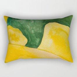 Yellow Landscape Rectangular Pillow