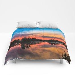 Summer Sunset over Lake Comforters