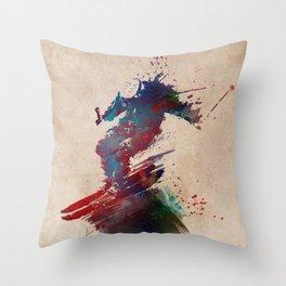 Ski sport art #ski #sport Throw Pillow
