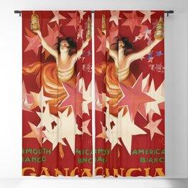 Vintage 1921 Italian Gancia Vermouth Advertisement by Leonetto Cappiello Blackout Curtain