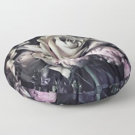 Roses and peonies vintage style Floor Pillow