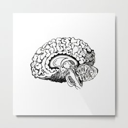 Think logically Metal Print