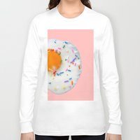 sprinkles Long Sleeve T-shirts featuring Sunny Sprinkles in PINK! by EliseMesner