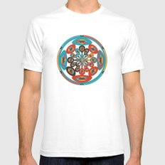 Round geometric design Mens Fitted Tee SMALL White