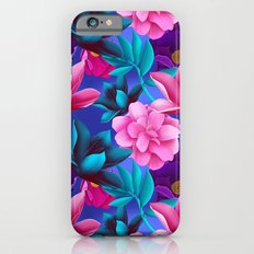 Tropical colorful flowers and leaves Slim Case iPhone 6s