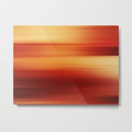 Abstract background blur motion red yellow style Metal Print