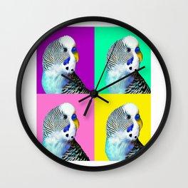Blue Boy Budgie Bird Wall Clock