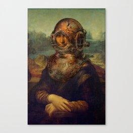 Steampunk Mona Lisa - Leonardo da Vinci Canvas Print