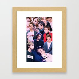 Vernon Collage Framed Art Print