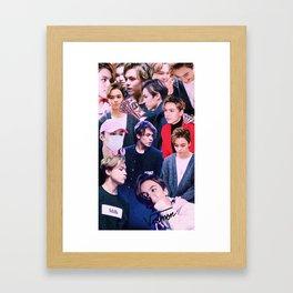 Vernon Collage Framed Art Print