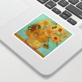 Vincent Van Gogh Twelve Sunflowers In A Vase Sticker