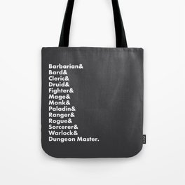 Dungeons and Dragons - Classes Tote Bag