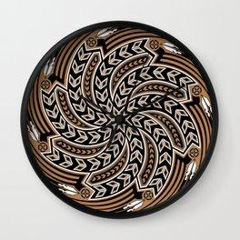 Wind Spirit (Brown) Wall Clock