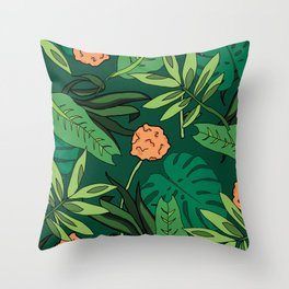 Deep In The Jungle... Throw Pillow