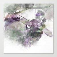 clint barton Canvas Prints featuring Clint Barton  by NKlein Design
