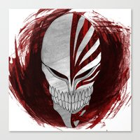 bleach Canvas Prints featuring Bleach - Hollow by Bradley Bailey