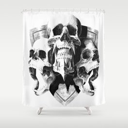 ominous dark without type Shower Curtain