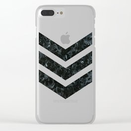 Marble - Army Clear iPhone Case
