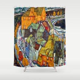 Egon Schiele Crescent of Houses II Shower Curtain