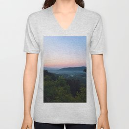 Clouded Mountain Unisex V-Neck