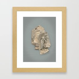 Shaping space Framed Art Print