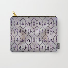 Amethyst Yoga Asanas pattern on mother of pearl Carry-All Pouch