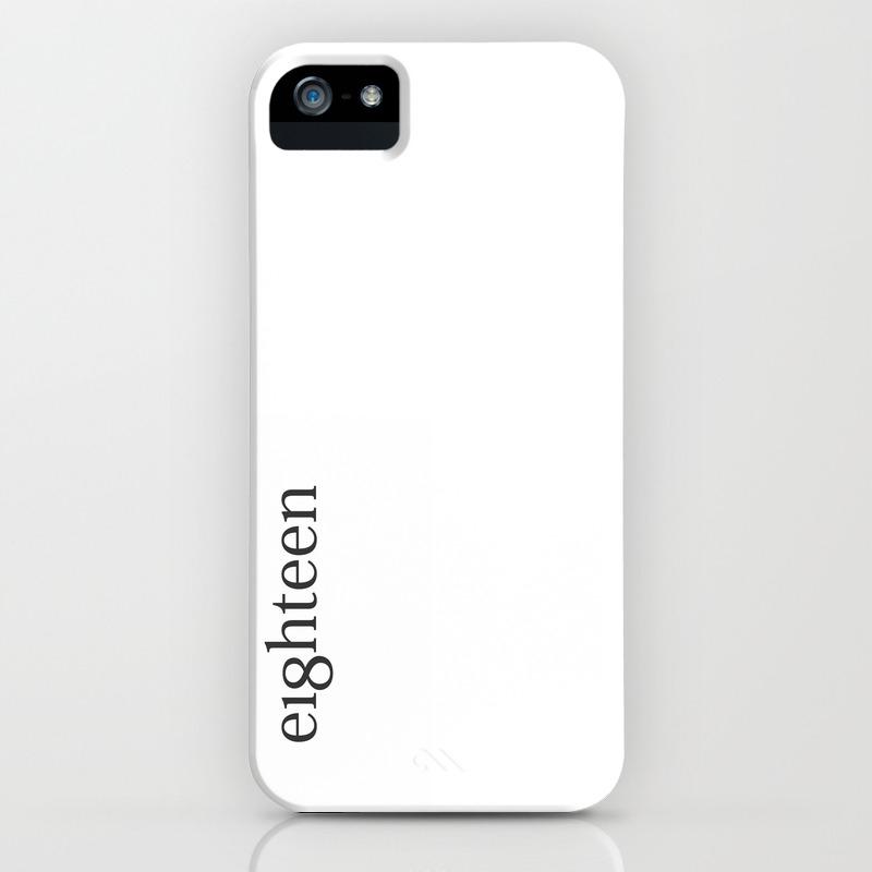 new arrival 3367a f8280 Eighteen Typo #society6 #decor #buyart iPhone Case