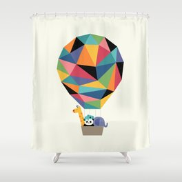 Fly High Together Shower Curtain
