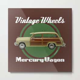 Vintage Wheels: Mercury Wagon Metal Print