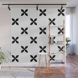 Pattern in Black and White Wall Mural