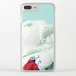 Ice climbing Clear iPhone Case
