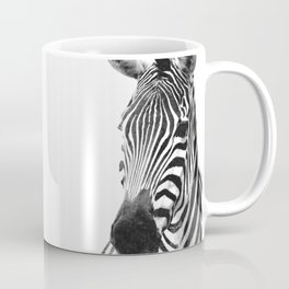 Black and white zebra illustration Coffee Mug