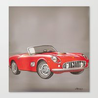 ferrari Canvas Prints featuring Ferrari by Alfonso Aranda